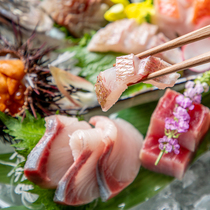 東北地方の提携漁港より産直にて仕入れた新鮮食材