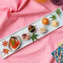 自慢の創作和食 見た目も美味しい♪てまり寿司。