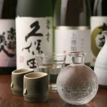 焼酎・日本酒・果実酒の品揃え豊富