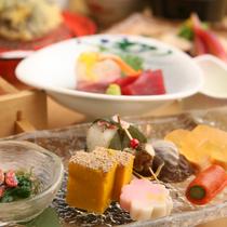 季節の旬の食材を彩りよく ご用意致します