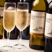 ワインなどのドリンクメニューも豊富。