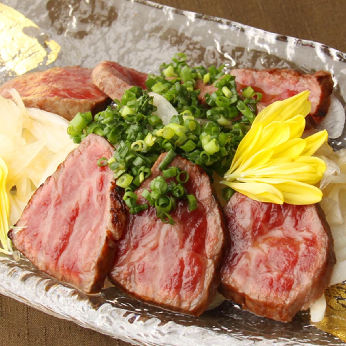 特選 牛みすじ肉のたたき 山葵醤油