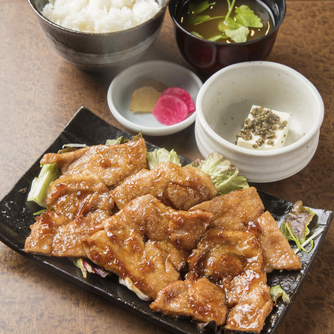 豚肩ロース生姜焼き