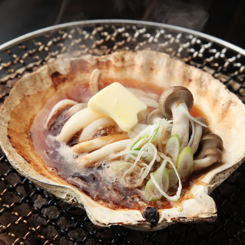 肉厚イカの大殻焼き(肝焼き)
