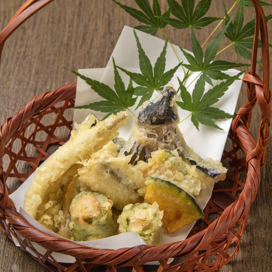 穴子と夏野菜の天ぷら