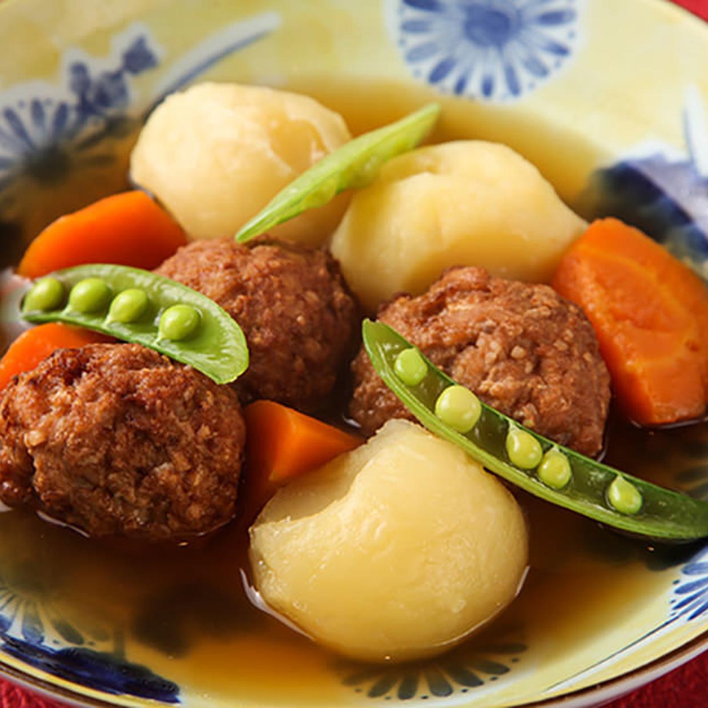 鶏つくねと北海道産きたあかりの肉じゃが