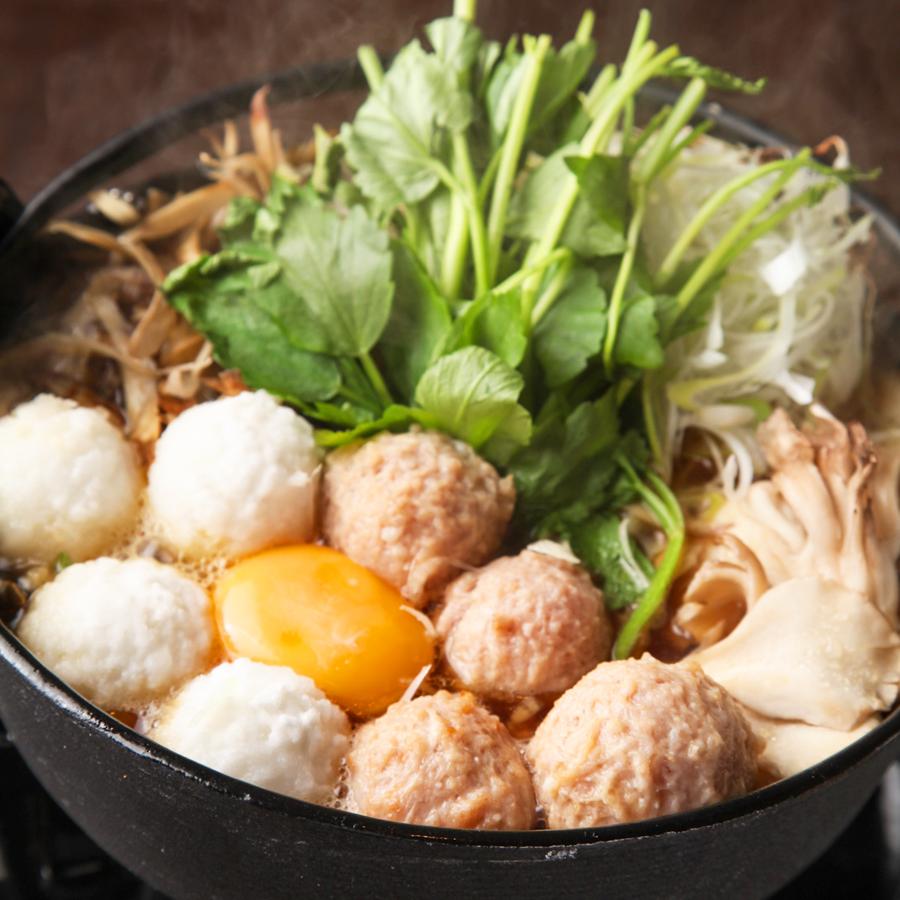 手ごねつくねと手毬団子の鶏スープ鍋