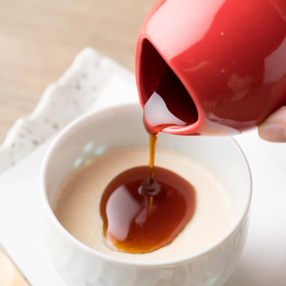 自家製 五島の椿茶プリン
