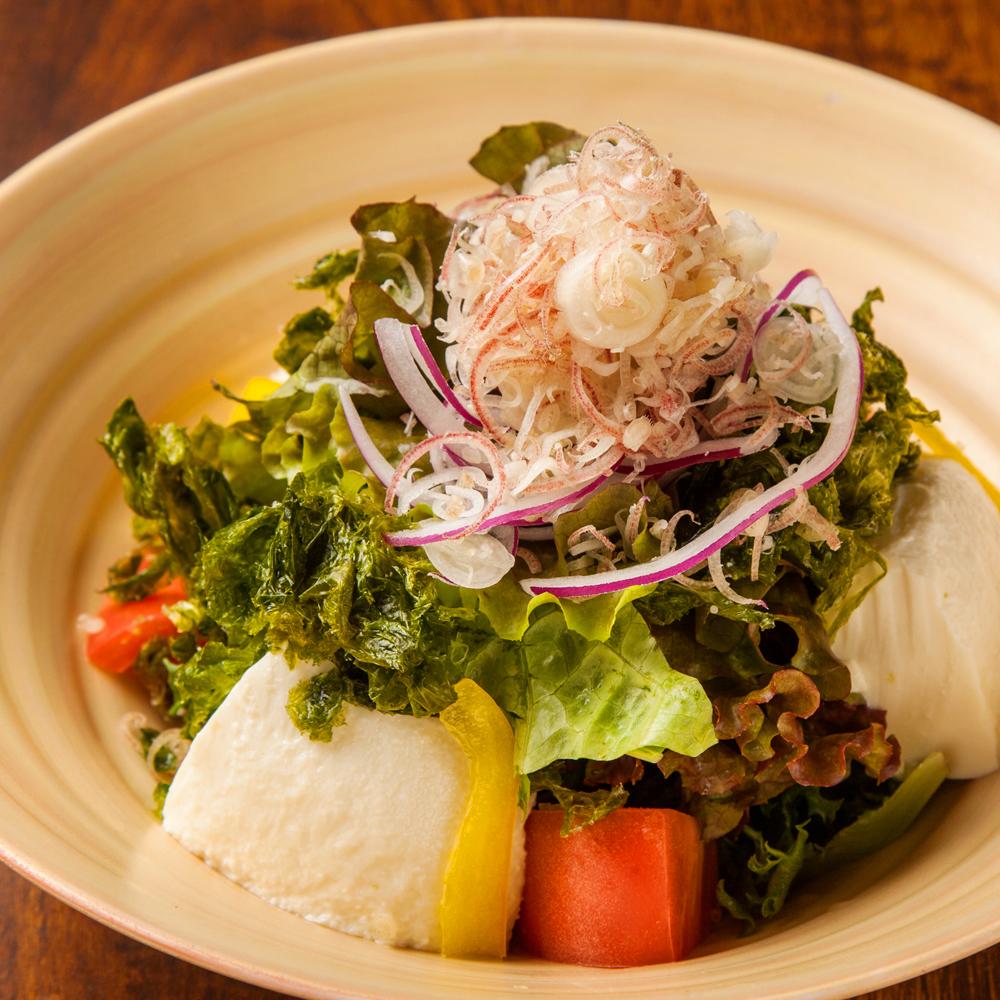 青さ海苔の豆腐サラダ