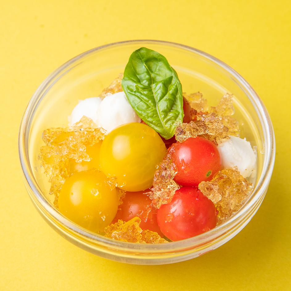 カラフルトマトとチェリーモッツァレラのカプレーゼ