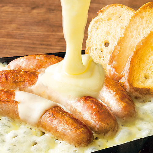ソーセージのチーズ焼き