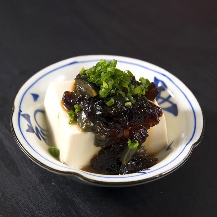 ピータン豆腐のジュレかけ
