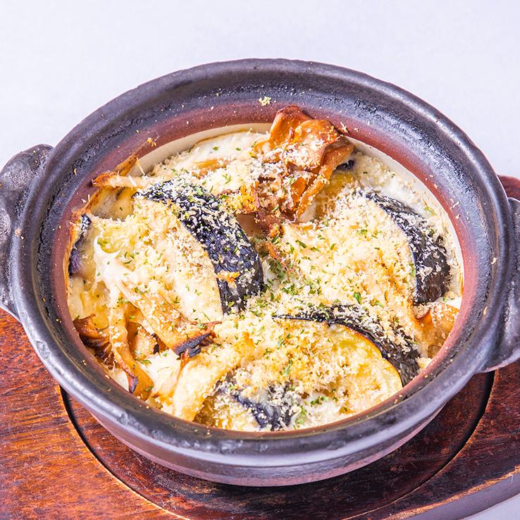 米茄子の味噌グラタン