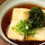青さ海苔の揚げ出し豆腐