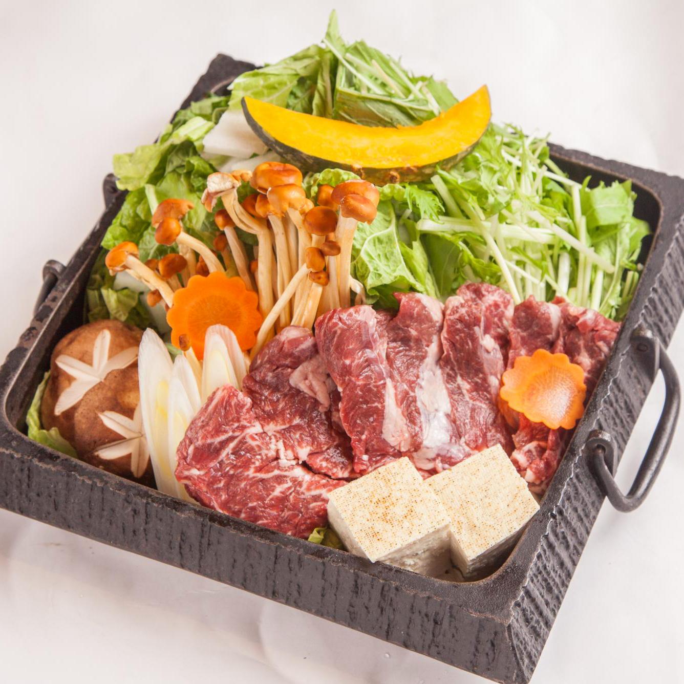 【燭台切光忠】 独眼竜のおもてなし 伊達者の格好良い特製牛ハラミすき鍋