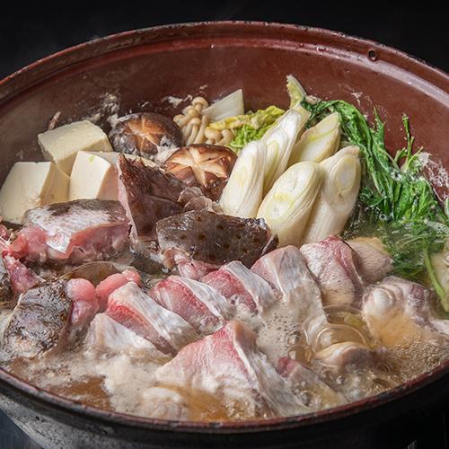 高級魚「アラ」 クエ鍋 あご出汁の香り