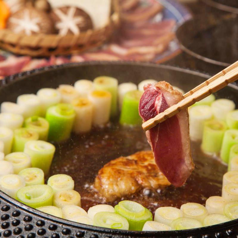 フォググラと鴨葱の すきしゃぶ鍋