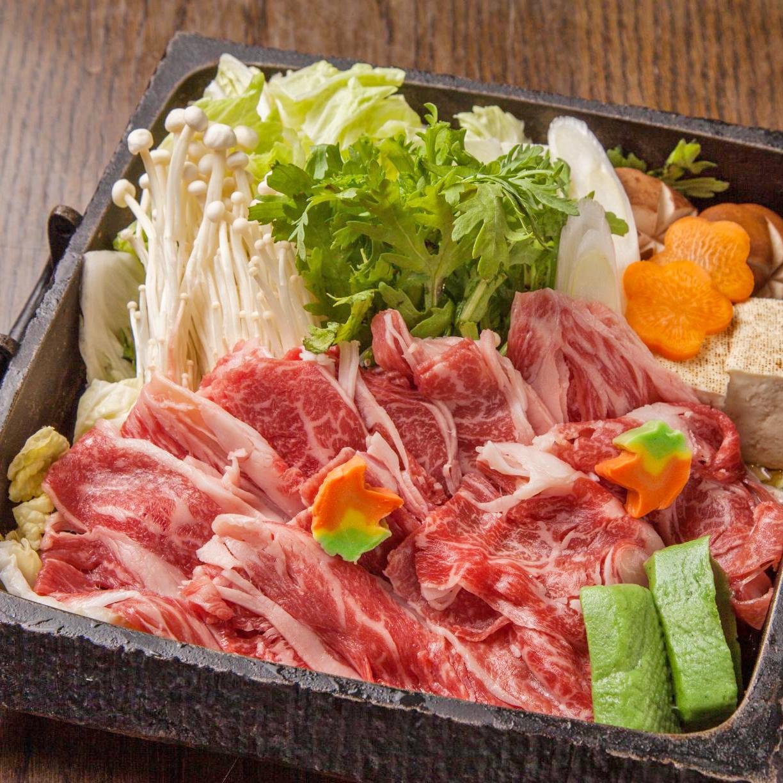 王道 特選牛と京麩の味噌すき牛鍋