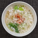 蟹のふんわり中華風卵白スープ
