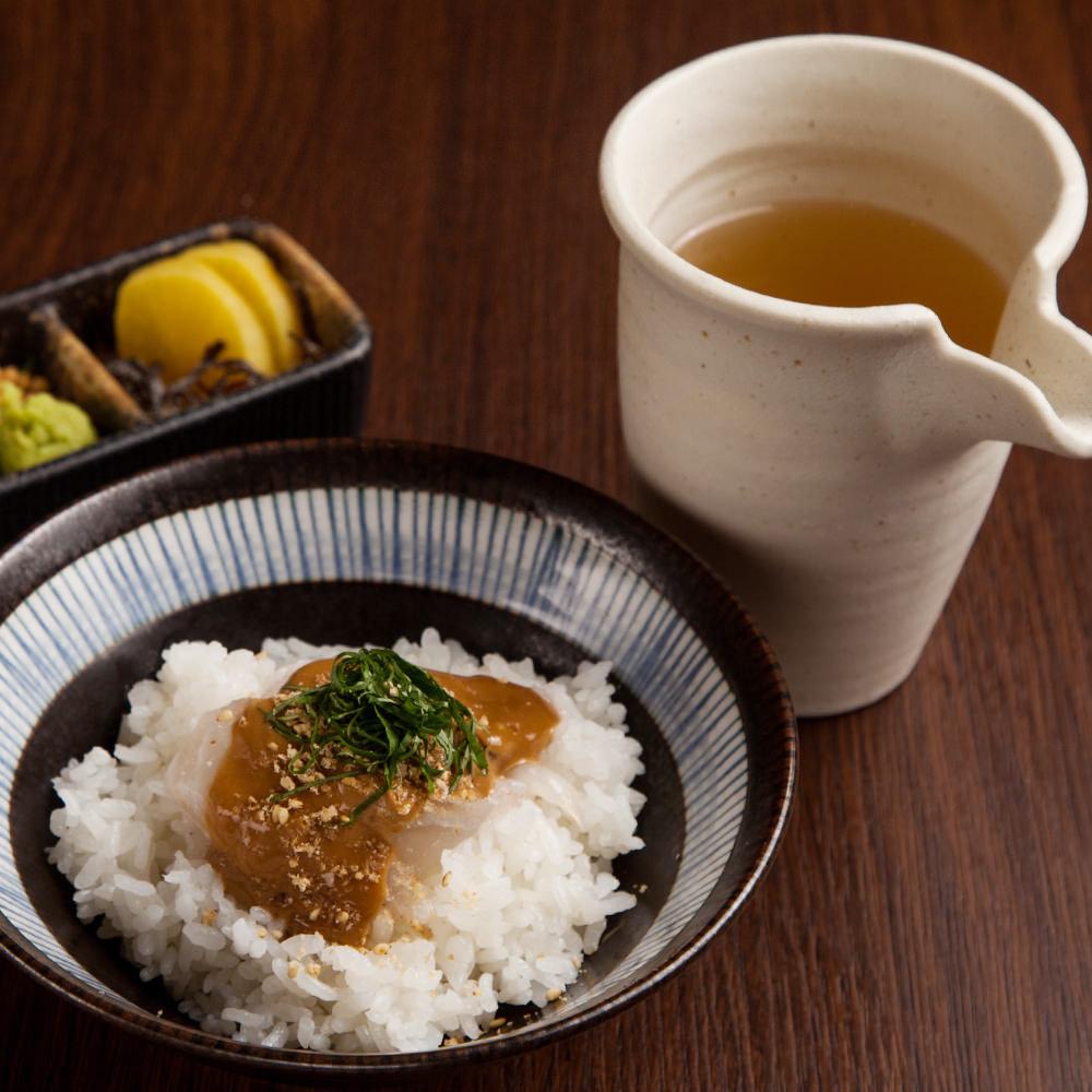 昆布〆鯛茶漬け 別添え御出汁