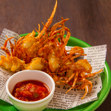 蟹のフリット サルサソース