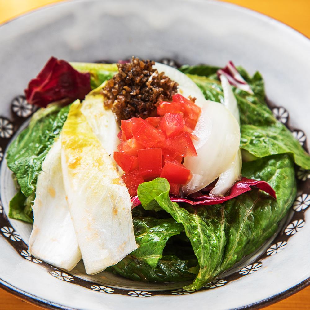 アンチョビとチコリのサラダ ~佐賀県産 完熟トマトを使ったドレッシング~