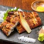 鰻の白焼き 山葵と柚子酢