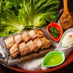 五島豚バラ肉と焼き味噌の野菜巻き~和風サムギョプサル~