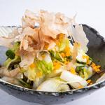 白菜と塩昆布の浅漬け からすみ風味