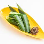 たたき胡瓜のふき味噌添え