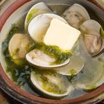 蛤と青さ海苔の吟醸バター蒸し