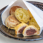 饅頭天ぷらとバニラアイス
