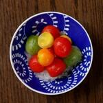 梅酒トマトと大葉のしゃーべっと