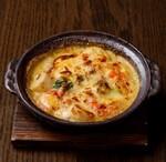 海老とサトイモの西京味噌チーズグラタン