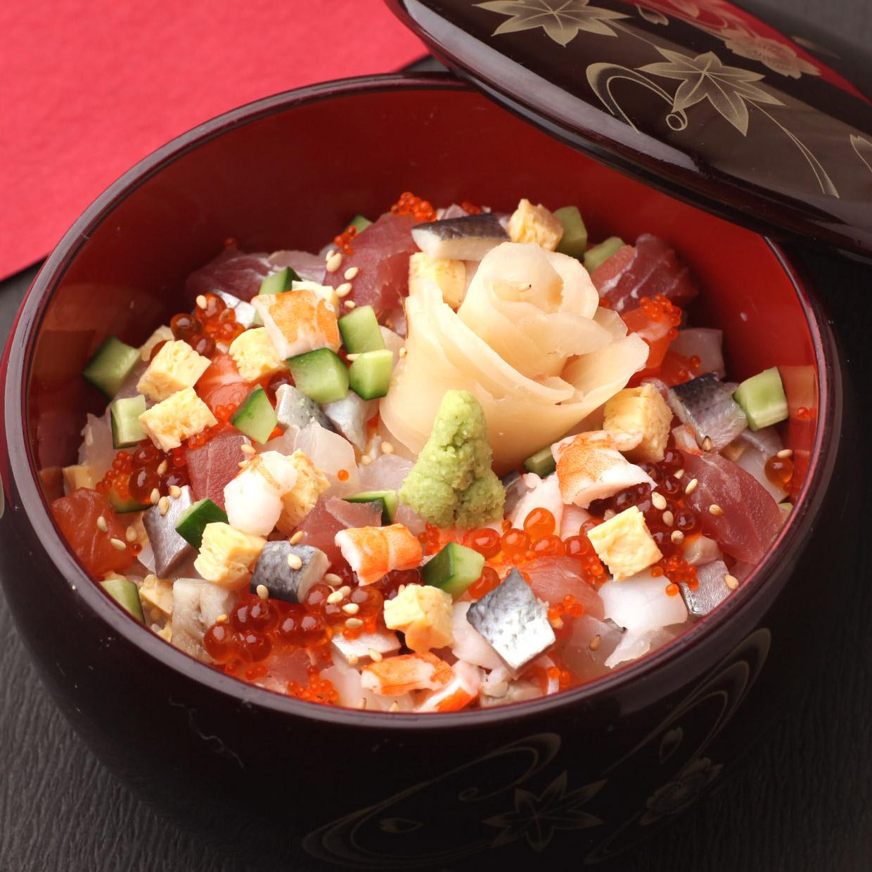 京の都の海鮮ちらし寿司