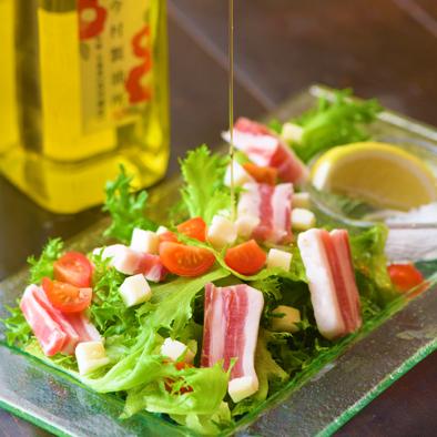 五島豚のパンチェッタサラダ