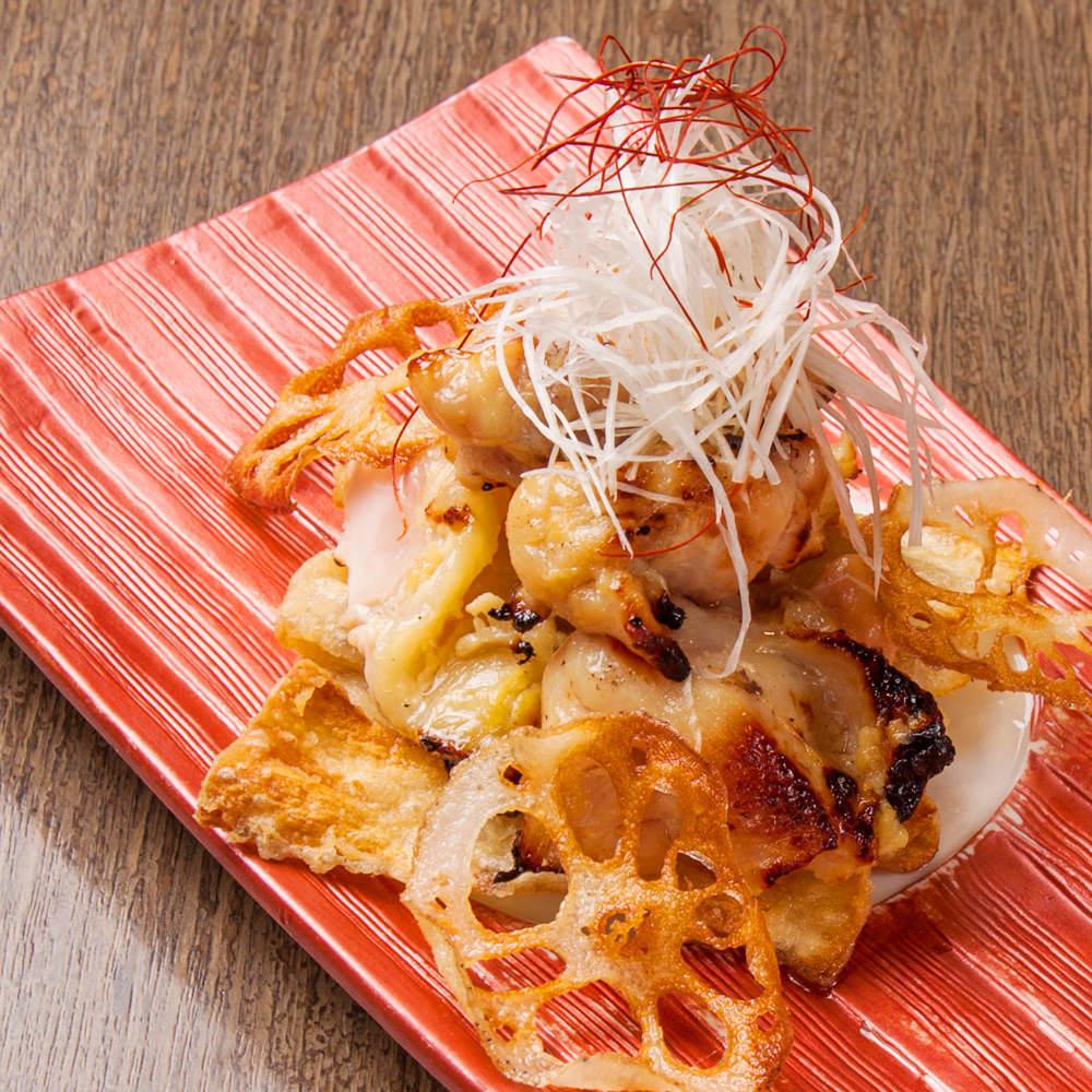 鶏トロの味噌漬け焼き