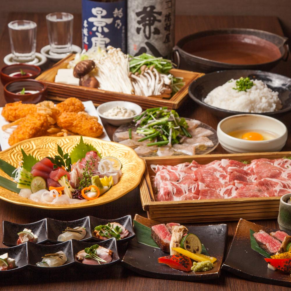 [お料理のみ] 選べる鍋16種類豪華絢爛蔵元コース8品