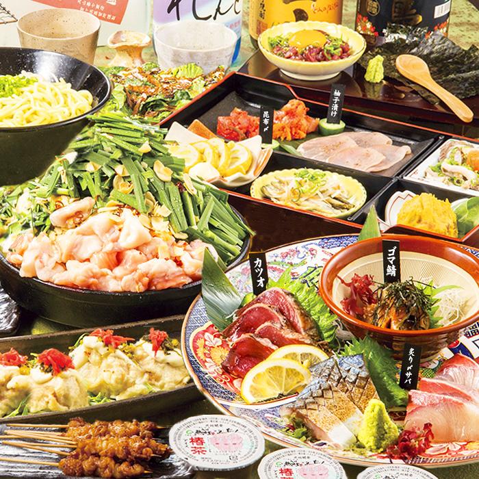 [金・土・祝前限定] [2時間飲み放題] 刺身4点・鍋・馬肉炙り4500コース9品
