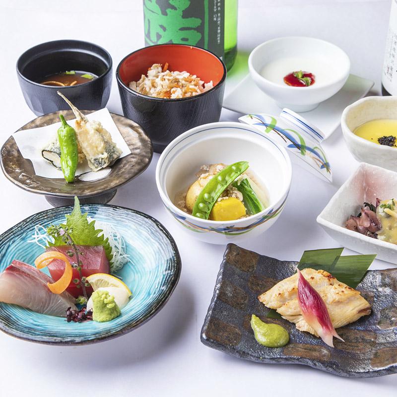 [2時間飲み放題] ・旬菜と名物ずわい蟹クリームコロッケの厳選会席7品