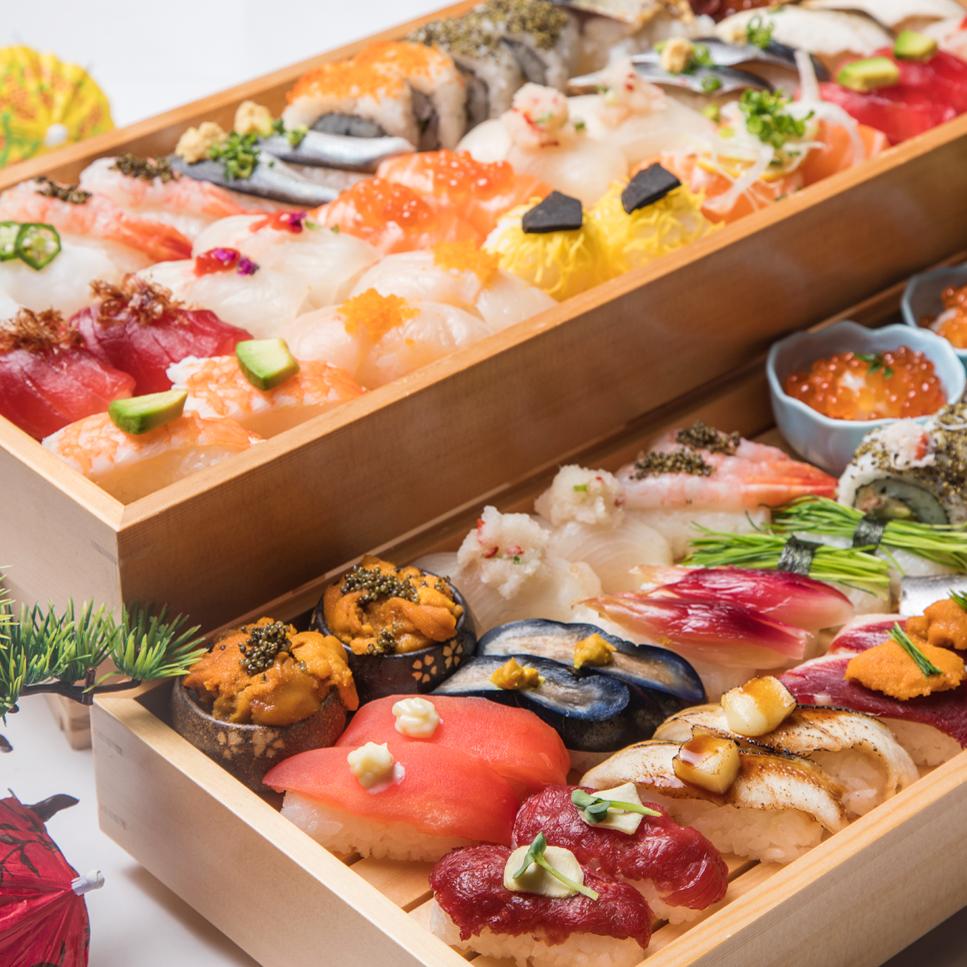 [お料理のみ] 京町寿司30種食べ放題コース6品