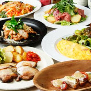 [お料理のみ] 旬の食材を感じる前菜やWメインなどシーズナルフルコース6品