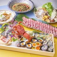ずわい蟹と鮭の粕味噌鍋・牛タン鉄板焼きコース③