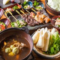 ≪お料理のみ≫比内地鶏と秋田名物きりたんぽ鍋コース