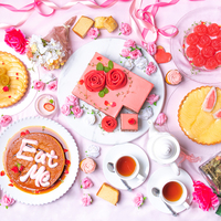 紅茶とバラのスイーツビュッフェ 26品3000円(税抜)