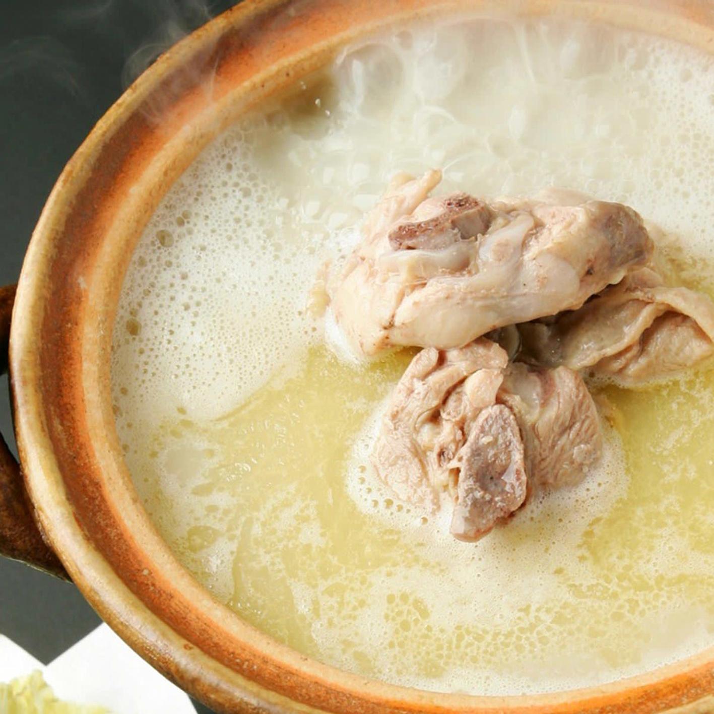 [2時間飲み放題] つくば鶏の水炊き鍋コース7品