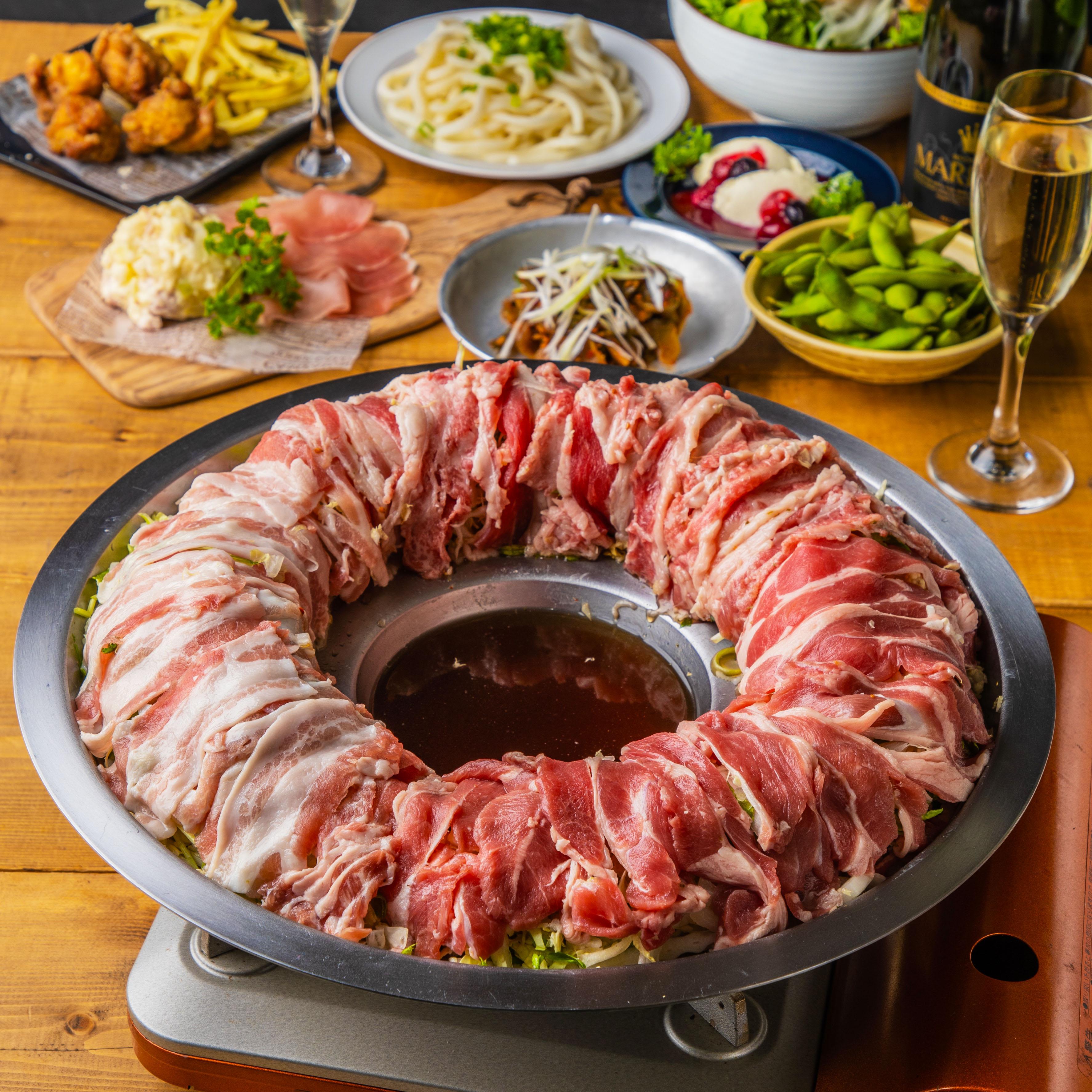 [3時間飲み放題3時間] プレミアム宴会!カルデラ炊き肉鍋11品