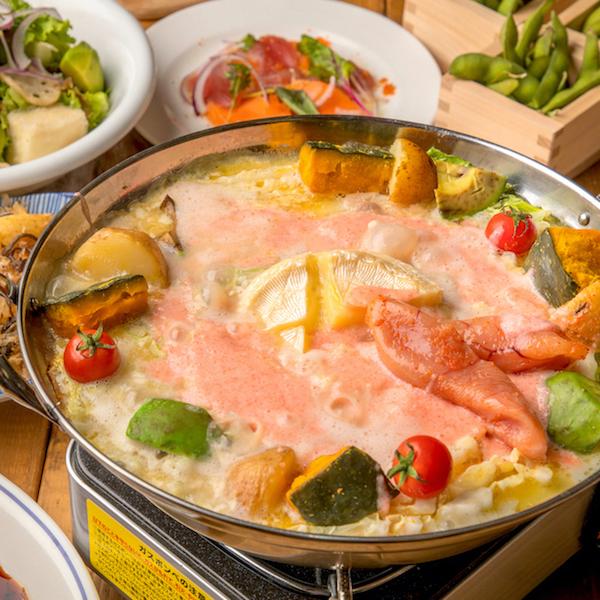 [2.5時間2.5H飲み放題] 黒豚明太チーズミルフィーユ鍋付9品
