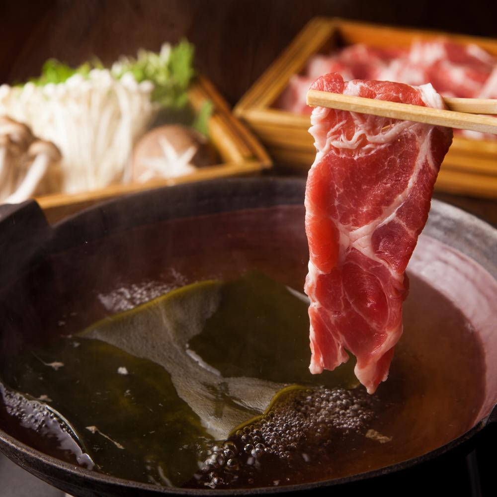 [曜日限定] [3時間飲み放題] 【大人気】豚肉しゃぶしゃぶ食べ放題8品