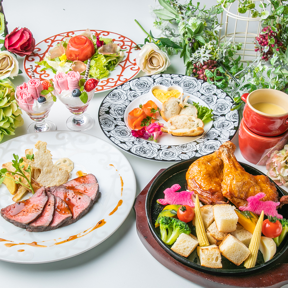 [お料理のみ] 女王様お気に入り☆チーズフォンデュ×ローストビーフコース7品